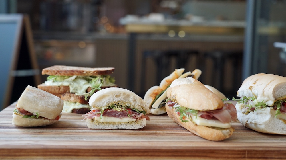 Lunch in Coconut Grove with handcrafted sandwiches