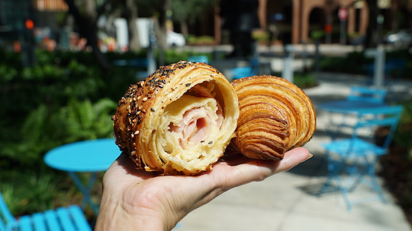 Breakfast in Coconut Grove with savory croissants